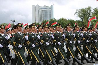 解放军仪仗队首次应邀参加白俄罗斯独立日阅兵