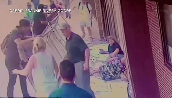 惊险一幕!遮阳棚突然坠落砸中两名妇女 一人受伤严重
