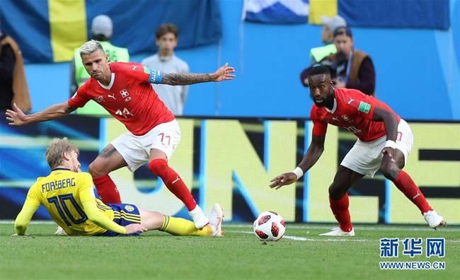 瑞典晋级八强 瑞典1比0淘汰瑞士