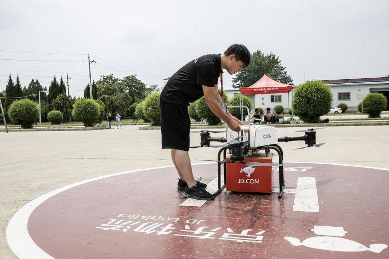 全球电商巨头争抢商用无人机市场 中国占得先机