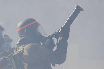 法国陆军防爆演习场面宏大装备精良