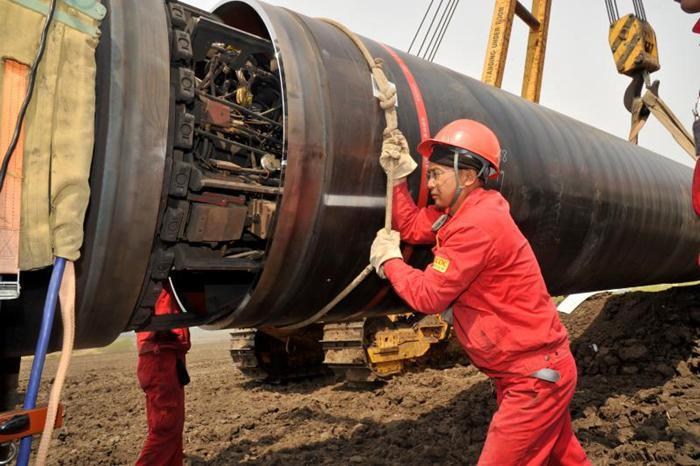中俄东线天然气管道北段工程进度过半