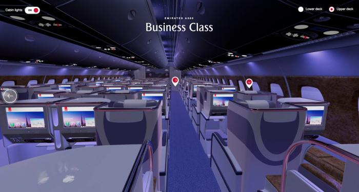 阿联酋航空推出VR体验 可让用户在飞机上闲逛