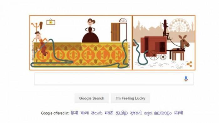 Google涂鸦纪念吸尘器发明人诞辰147周年