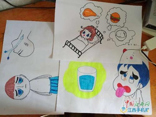暖心!修水护士手绘简单漫画 方便与重症患者沟通