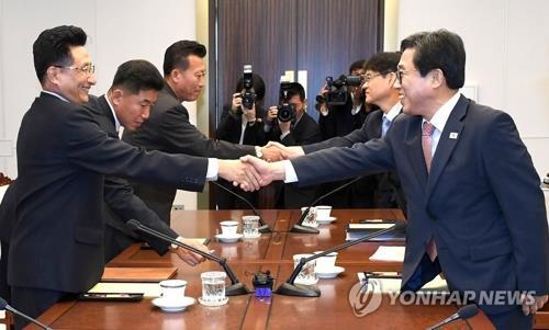 韩朝7月5日晚在平壤举行体育工作会谈