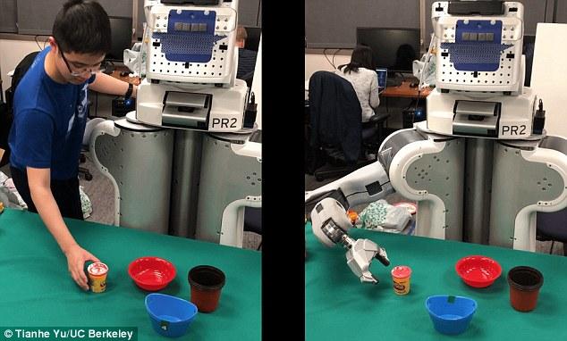 AI机器人仅观察一次就能模仿人类做出的动作