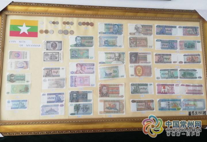 从1角到10000元 缅甸留学生用缅币画献礼母校