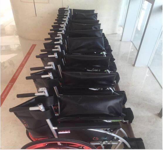共享轮椅现身杭州 医院定期进行消毒