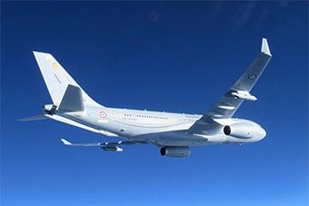 法空军首架330MRTT加油机亮相 将替换美制加油机
