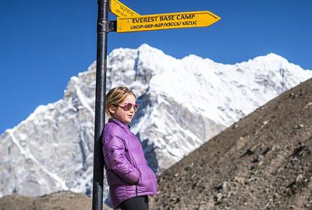 赞!澳6岁女童历时19天登顶珠峰创世界纪录