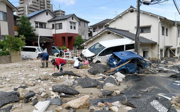 """暴雨后的日本:名酒""""獭祭""""停产 众多工厂受灾"""