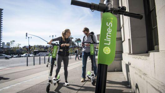 优步投资共享单车公司Lime 进军电动滑板车业务