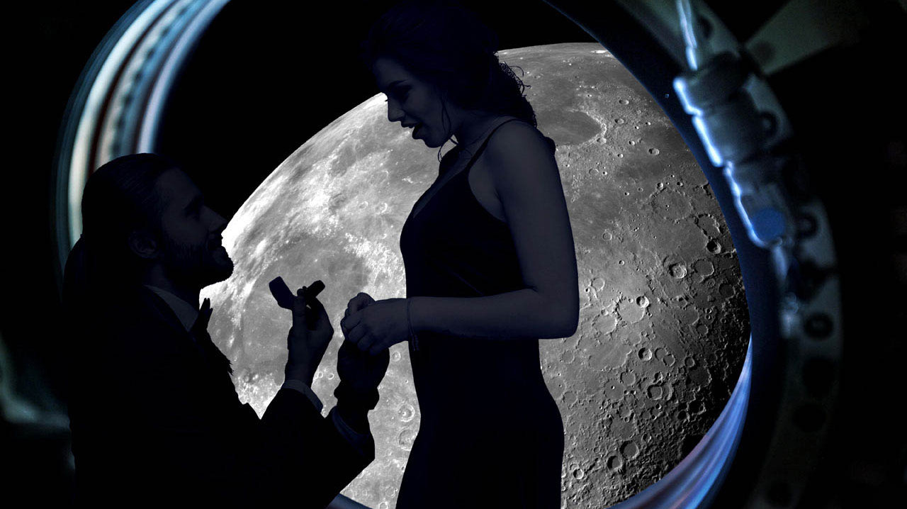 """法国策划公司推出""""月球求婚""""时时彩送38彩金平台 费用9.43亿"""