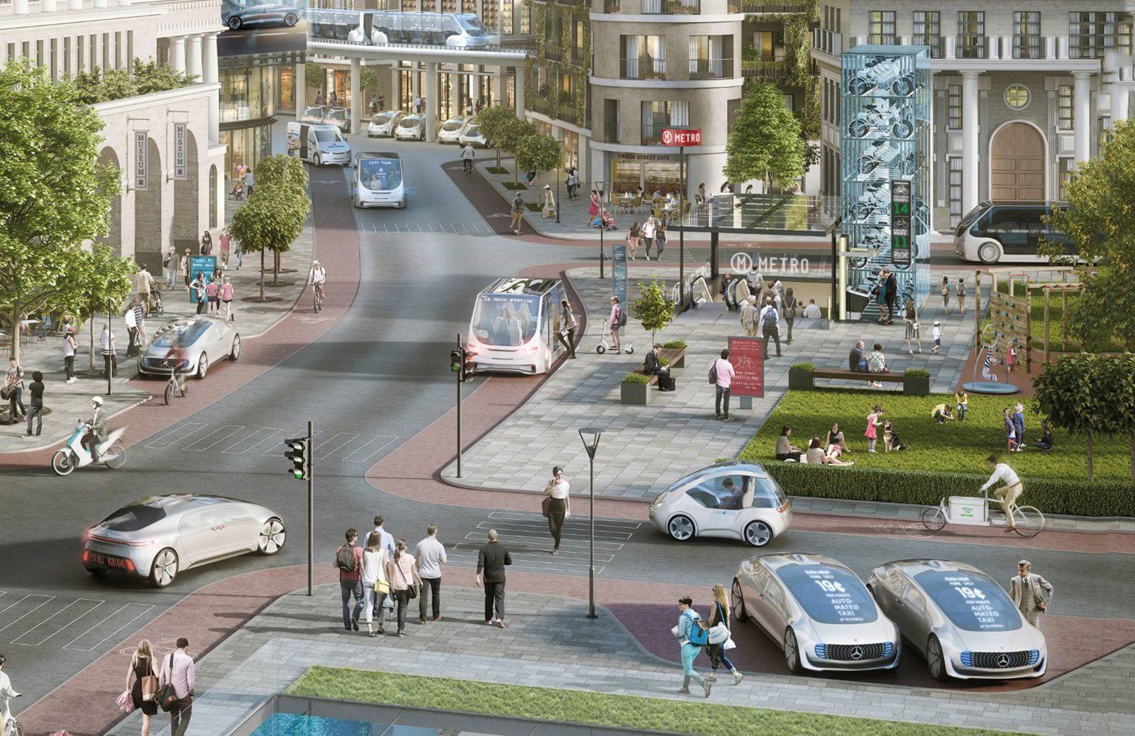 戴姆勒明年推出无人驾驶出租车都是豪华奔驰轿车