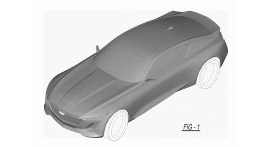 凯迪拉克CT5 Coupe专利图 或于2019年底亮相