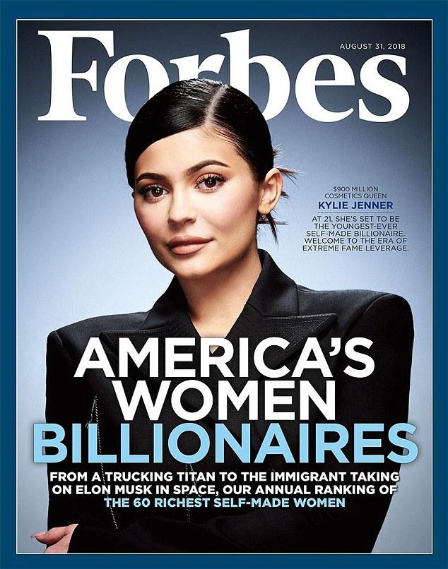 凯莉•詹娜登《福布斯》 将取代扎克伯格为最年轻白手起家亿万富翁