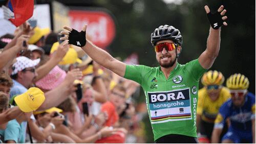 环法第五赛段萨甘夺冠军 第90天穿绿衫创历史纪录