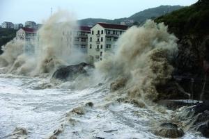 超强台风福建沿海登陆