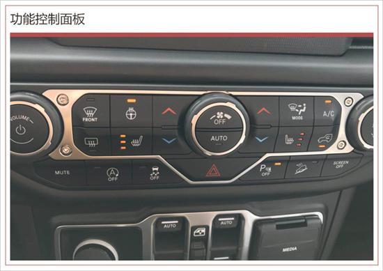 整体科技感十足;触控屏下方为空调控制旋钮及功能按键,从图上来看该车