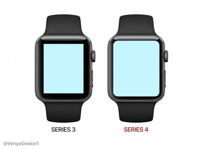 Apple Watch Series 4屏幕变大后是什么样子?