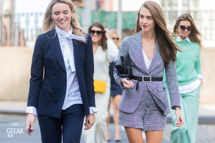 你需要的短款西装套装,让炎热的工作日一秒清凉时尚!