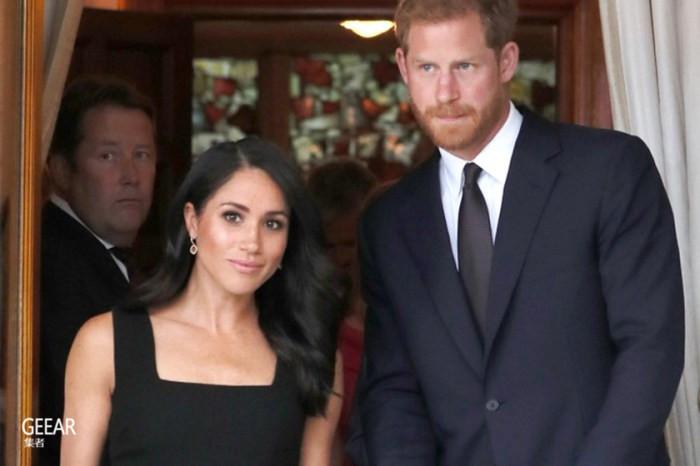 梅根王妃的一个细节就让沉闷的小黑裙颇具特色!