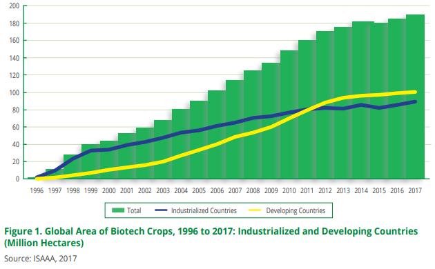 亚太地区去年转基因作物种植面积占全球10%