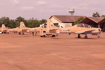 马里空军接收4架螺旋桨攻击机