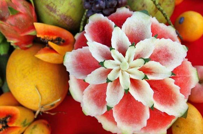 绝美的水果雕刻艺术