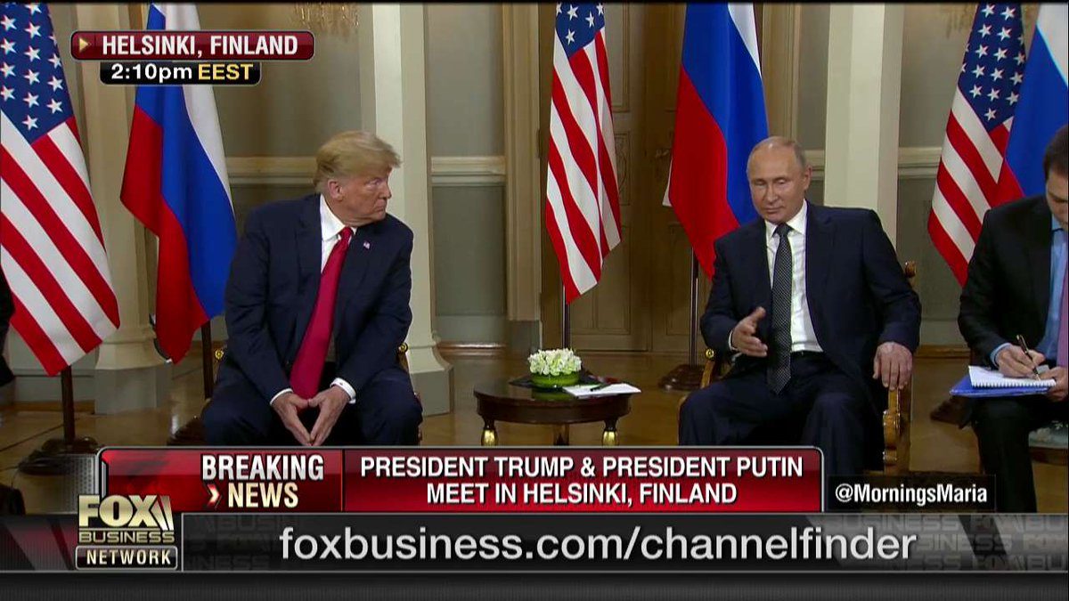 """""""普特会""""开始了!普京与特朗普举行首次正式会晤"""