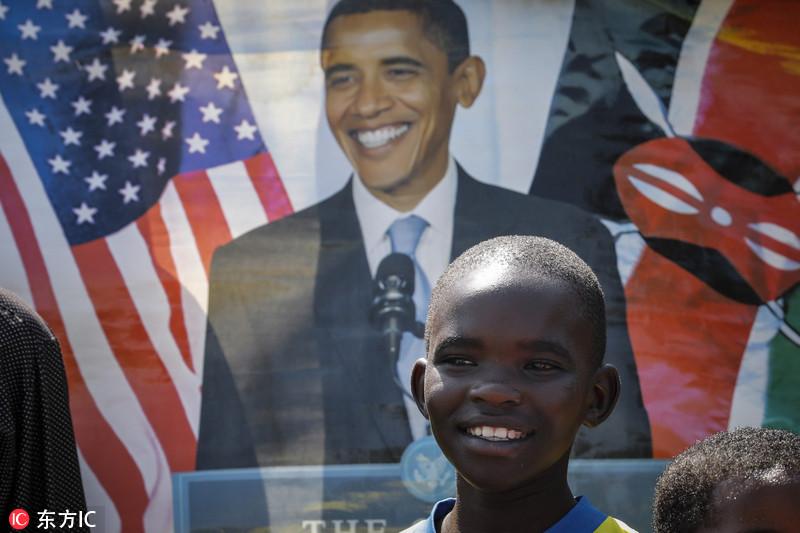 """美前总统奥巴马卸任后首次回""""老家""""肯尼亚"""