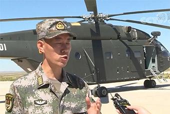 陆航部队比武竞赛 新型直升机亮相