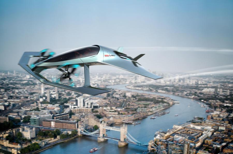 阿斯顿马丁发布概念飞行汽车官图 可垂直起降