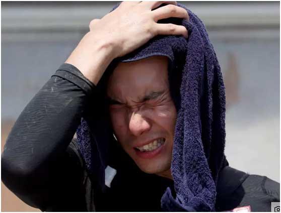 日本罕见高温造成14人死亡,上千人在医院接受中暑治疗