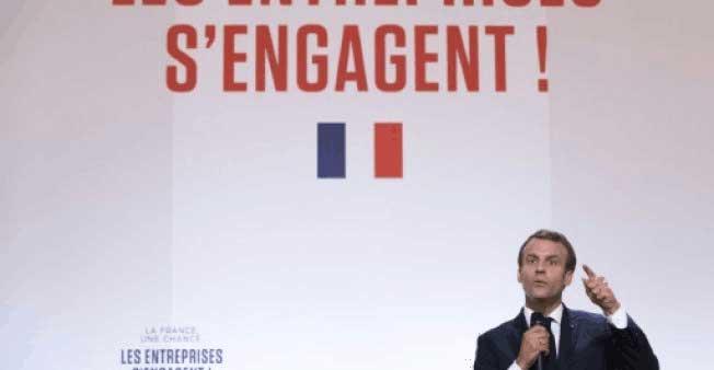 马克龙动员法国大企业为年轻人提供更多就业机会