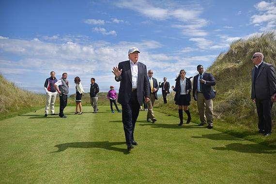 账单显示美国政府为特朗普在苏格兰高尔夫球场花费7.7万美元