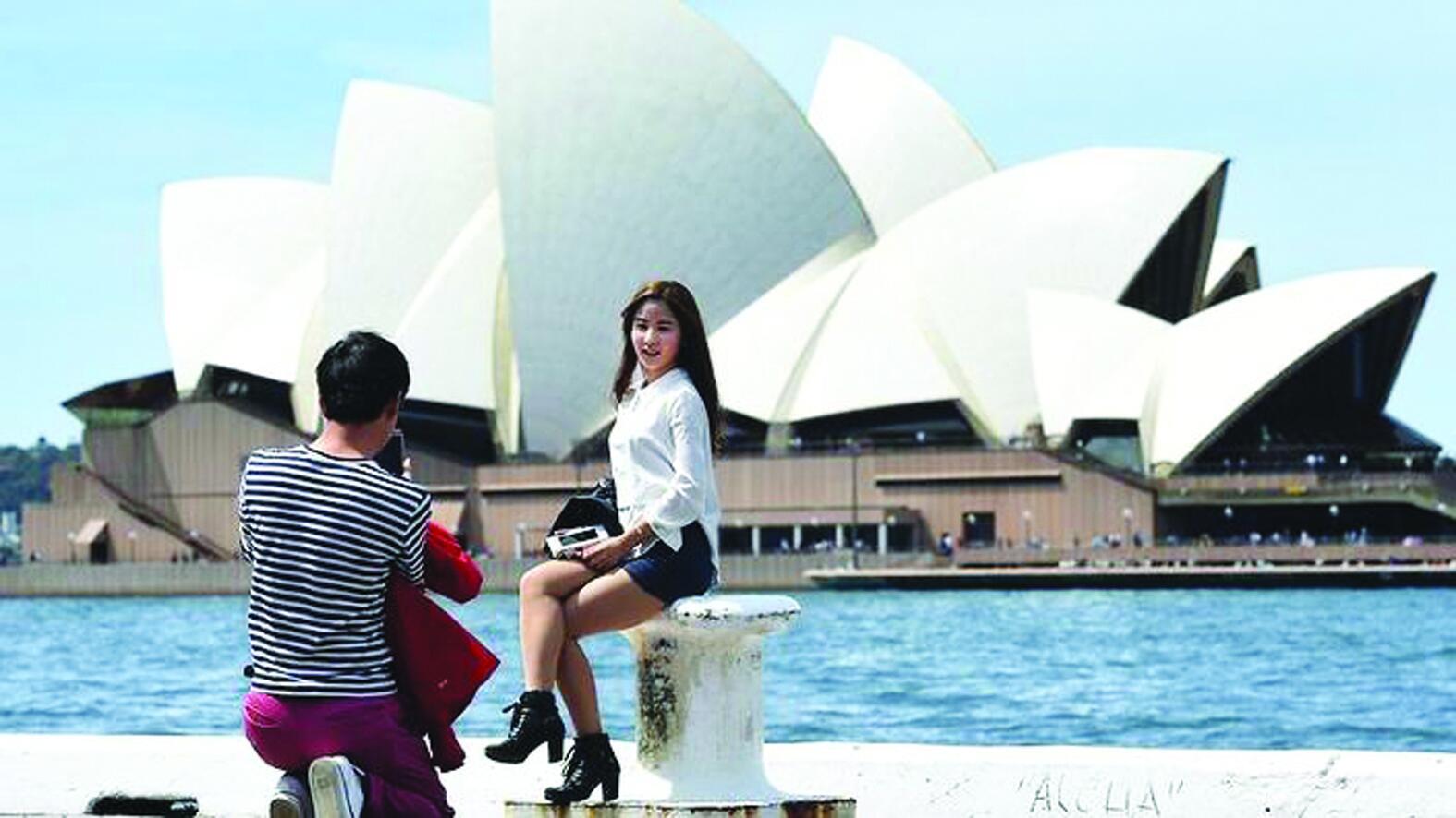 报告显示澳大利亚成中国人首次出境游最青睐国家