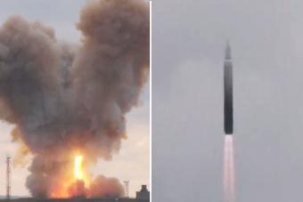 """20倍音速杀手锏:俄""""先锋""""导弹试射壮观场面"""