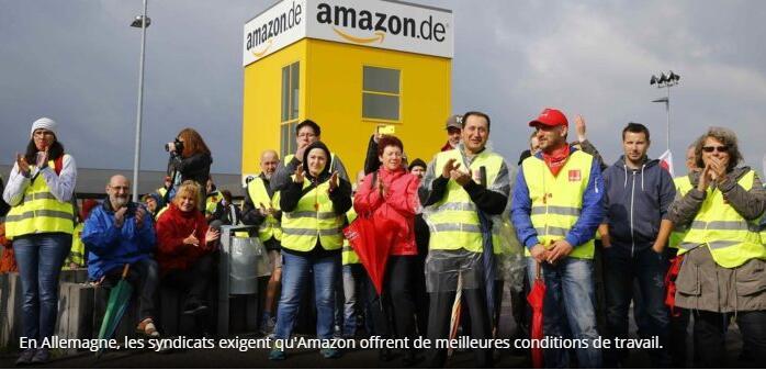 欧盟三国工人在亚马逊购物狂欢日罢工 要求改善工作条件
