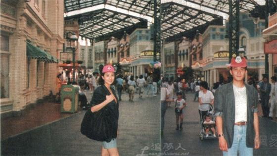 29年前梁朝伟刘嘉玲同游迪士尼