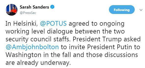 快讯!白宫:特朗普邀请普京今秋访问华盛顿