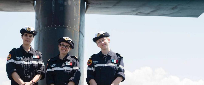 向女性开放:法国核潜舰首批4名女军官服役