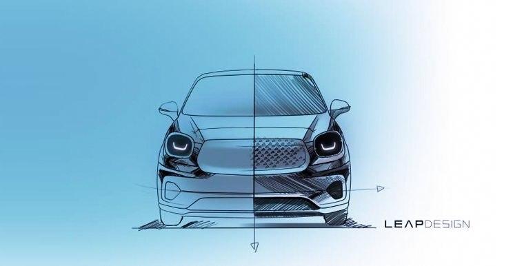 零跑汽车官方曝光两款基于T平台新车型手绘图
