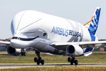 """""""超级大白鲸""""运输机首飞 这造型还顺便卖萌"""
