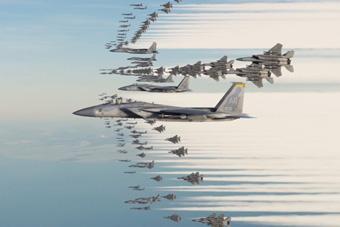 500架战斗机狗斗会是什么场面 堪称史诗级空战