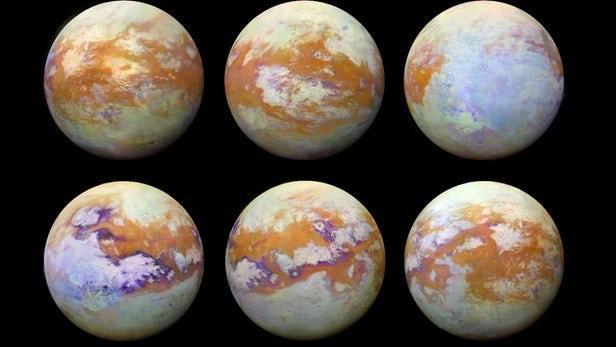 新红外图像展示土卫六通常被厚云覆盖的特征