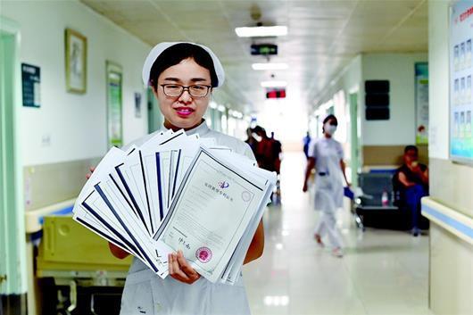 女护士3年摘17个国家发明专利 受邀为武大学生上课