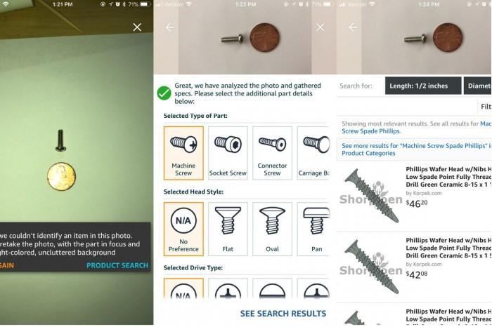 亚马逊iPhone应用增AR功能 助用户购买特定紧固件