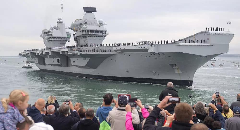 英国无舰可用希望澳海军陪其航母去南海巡航